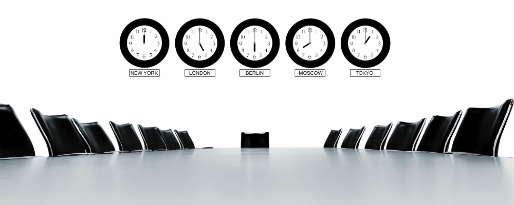 Does your meeting involve participants in different time zones?